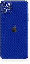 Apple iPhone 11 pro max blue carbon fiber SKIN and WRAP. skinz
