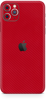 Apple iPhone 11 pro max red carbon fiber SKIN and WRAP. skinz