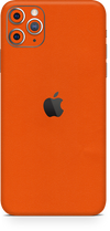 Apple iPhone 11 pro max true orange skin-wrap. Skinz Edmonton