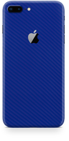 Apple iPhone 8 plus blue carbon fiber skin and wrap. Skinz