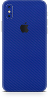 Apple iPhone X blue carbon fiber skin and wrap. Skinz