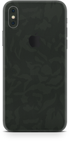 Apple iPhone X green camo skin and wrap. Skinz