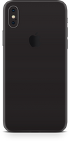 Apple iPhone x matte black phone wrap-skin. skinz Edmonton