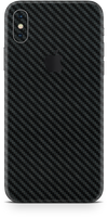 Apple iPhone X max black carbon fiber skin and wrap. Skinz