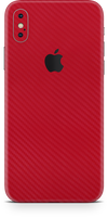 Apple iPhone X max red carbon fiber skin and wrap. Skinz