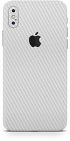 apple iPhone x max white carbon fiber SKIN WRAP. skinz Edmonton