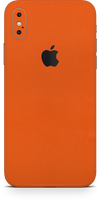 Apple iPhone x true orange phone wrap-skin. skinz Edmonton