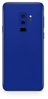 Samsung galaxy s9 plus blue carbon fiber SKIN and WRAP. skinz