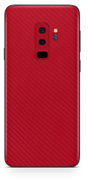 Samsung galaxy s9 plus red carbon fiber SKIN and WRAP. skinz