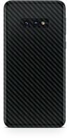 Samsung galaxy s10e black carbon fiber SKIN and WRAP. skinz Edmonton