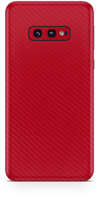 Samsung galaxy s10e red carbon fiber SKIN and WRAP. skinz Edmonton
