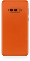 Samsung galaxy s10e true orange phone wrap-skin. skinz Edmonton