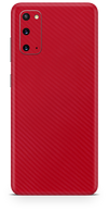 Samsung galaxy s20 red carbon fiber SKIN and WRAP. skinz Edmonton