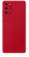 Samsung galaxy s20 plus red carbon fiber SKIN and WRAP. skinz Edmonton