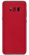 Samsung galaxy s8 red carbon fiber SKIN and WRAP. skinz