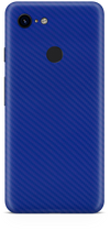 Google pixel 3 blue carbon fiber skin and wrap. skinz