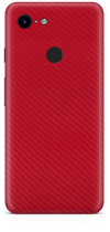Google pixel 3 red carbon fiber skin and wrap. skinz