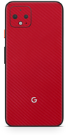 Google pixel 4 XL red carbon fiber skin and wrap. Skinz
