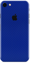 Apple iPhone 8 blue carbon fiber skin and wrap. Skinz