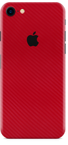 Apple iPhone 8 red carbon fiber skin and wrap. Skinz