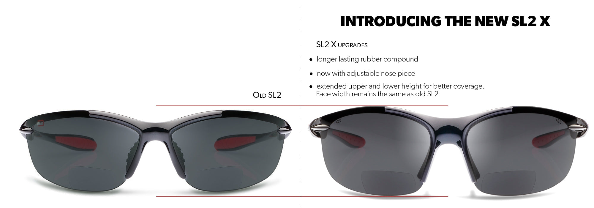 NEW, UPGRADED DESIGN SL2-X BIFOCAL SUNGLASSES – READING SUNGLASSES WITH A WRAP-AROUND FIT DESIGNED FOR CYCLING AND SPORTS