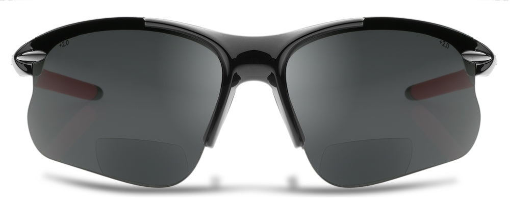 NEW, UPGRADED DESIGN SL2 PRO-X BIFOCAL POLARIZED SUNGLASSES – READING SUNGLASSES WITH A WRAP-AROUND FIT DESIGNED FOR CYCLING AND SPORTS