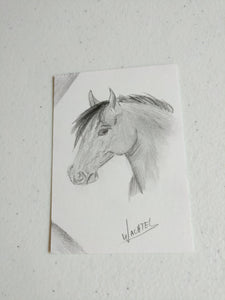 ACEO horse art eBay auction