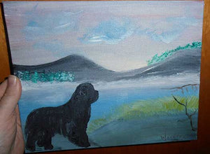 Newfoundland Dog Painting - Tranquil Ocean View
