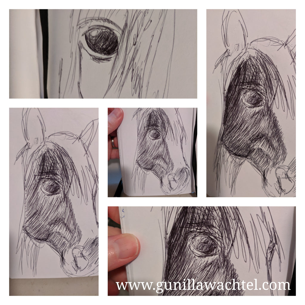 Sketchbook pages - horse