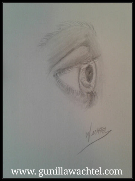 Pencil study of an eye - Kanweienea Kreations