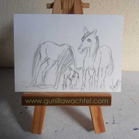 30 Days of Horses ACEO 1 - Gunilla Wachtel