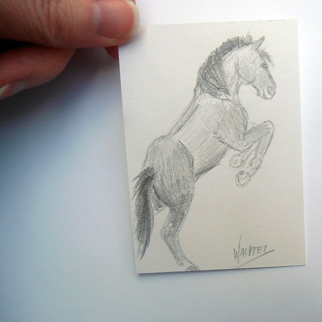 Daily drawing 19 horse pencil drawing