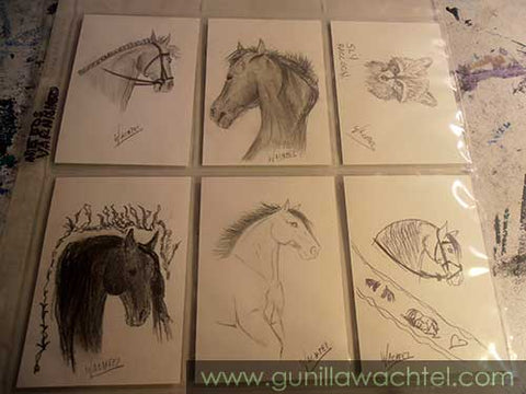 ACEO cards to varnish Gunilla Wachtel