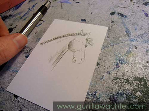Mini Treasures Horse Drawing Gunilla Wachtel