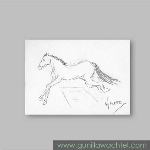 ACEO eBay auction horse drawing