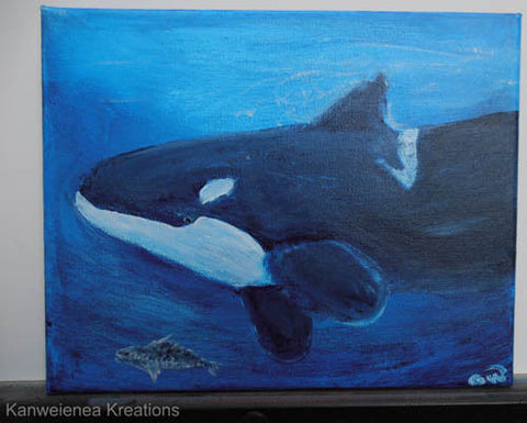 Orca Painting by Gunilla Wachtel
