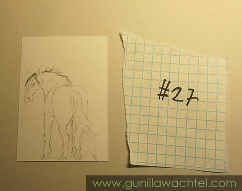 Daily Drawing 27 ACEO horse sketch Gunilla Wachtel
