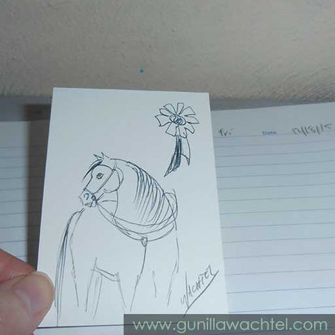 Daily Drawing 25 - Gunilla Wachtel - Kanweienea Kreations - ACEO art