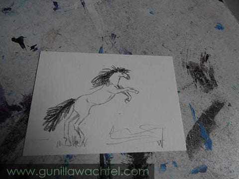 Daily Drawing 30 - horse ACEO sketch - Gunilla Wachtel