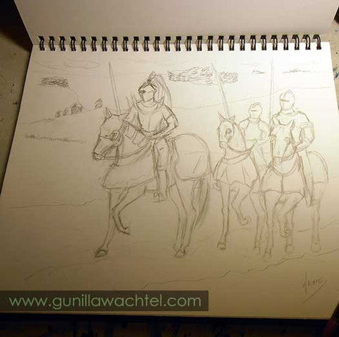 Knights and Horses 2 - Drawing Gunilla Wachtel