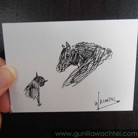 Mini Treasures #37 - ACEO drawing - Gunilla Wachtel