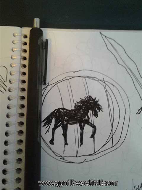 Pages from the sketchbook horse drawing