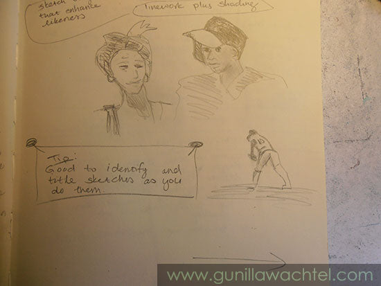 A page from my sketchbook - Gunilla Wachtel
