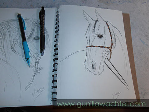 A page from my sketchbook - Gunilla Wachtel - Kanweienea Kreations