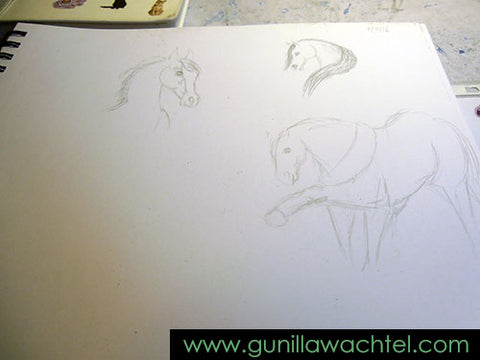 Another one of my sketchbook pages - Gunilla Wachtel
