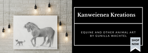 Gunilla Wachtel Equine and other animal artist Kanweienea Kreations