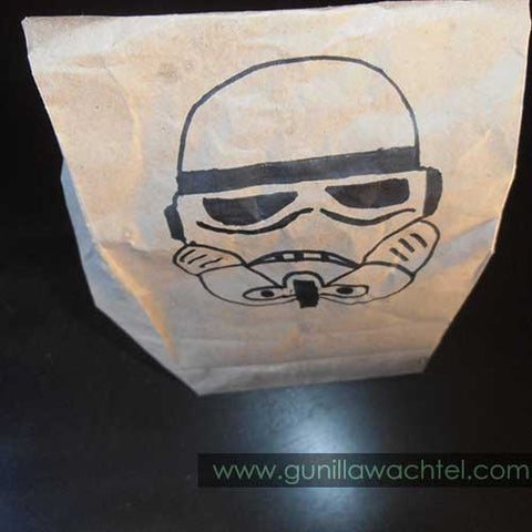 Storm Troopers Treat Bag - drawing by Gunilla Wachtel