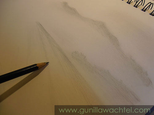 Pencil sketch landscape - Gunilla Wachtel