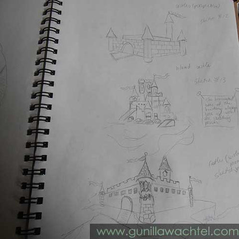 A Page from an Old Sketchbook - Kanweienea Kreations - Gunilla Wachtel