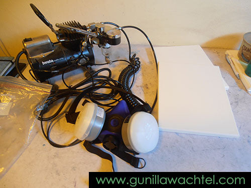 Some of my airbrush equipment - Gunilla Wachtel